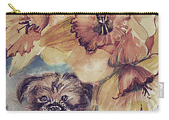 Carry-all Pouch featuring the painting Nellie Mae by Mindy Newman