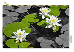 Carry-all Pouch featuring the photograph Nenuphar by Gina Dsgn