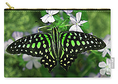 Neon --- Tailed Jay Butterfly Carry-all Pouch