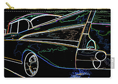 Neon 57 Chevy Bel Air Carry-all Pouch