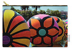 Carry-all Pouch featuring the photograph Neon Balls Of Macarthur Park by Lorraine Devon Wilke