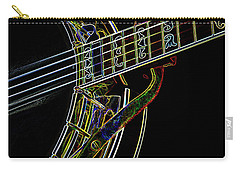 Carry-all Pouch featuring the photograph Neon Banjo  by Wilma Birdwell