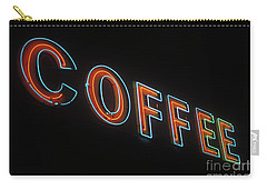 Carry-all Pouch featuring the photograph Neon Coffee by Jim and Emily Bush