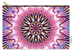 Carry-all Pouch featuring the digital art Neon Explosion by Shawna Rowe