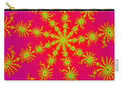 Neon Fractals Carry-all Pouch