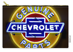 Neon Genuine Chevrolet Parts Sign Carry-all Pouch