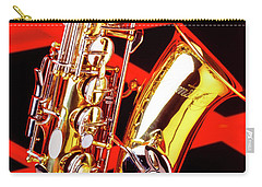 Neon Jazz Sax Carry-all Pouch