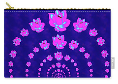 Neon Pink Lotus Arch Carry-all Pouch