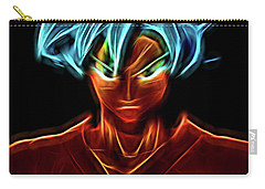 Carry-all Pouch featuring the digital art Neon Ss God Goku by Ray Shiu
