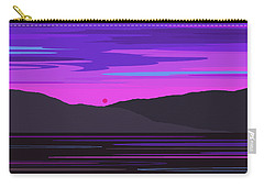 Neon Sunset Reflections Carry-all Pouch