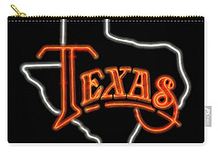 Carry-all Pouch featuring the digital art Neon Texas by Daniel Hagerman
