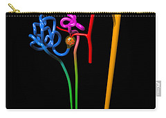 Carry-all Pouch featuring the digital art Nephron Black by Russell Kightley
