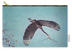 Nesting Heron In Flight Carry-all Pouch