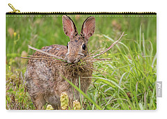 Nesting Rabbit Carry-all Pouch by Terry DeLuco