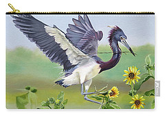 Nesting Tri Colored Heron Carry-all Pouch
