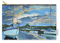Carry-all Pouch featuring the painting Nestled In For The Night At Mylor Bridge - Cornwall Uk - Sailboat  by Jan Dappen