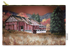 Carry-all Pouch featuring the digital art Nestled In The Laurel Highlands by Lois Bryan