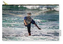 Carry-all Pouch featuring the photograph Net Fishing by Roger Mullenhour