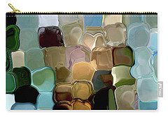 Neutrals In Light Abstract Carry-all Pouch