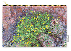Carry-all Pouch featuring the photograph Nevada Yellow Wildflower by Linda Phelps