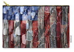Carry-all Pouch featuring the photograph Never Forget American Sacrifice by DJ Florek
