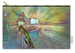 Carry-all Pouch featuring the digital art New Dawn by Shadowlea Is
