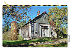 New England Barn With Tiled Silo Carry-all Pouch