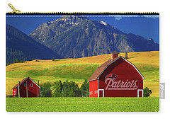 Carry-all Pouch featuring the photograph New England Patriots Barn by Movie Poster Prints