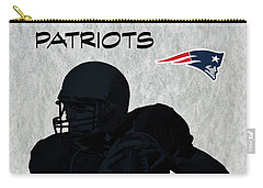 New England Patriots Football Carry-all Pouch by David Dehner