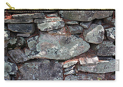 Carry-all Pouch featuring the photograph New England Stone Fence 5 by Mary Bedy