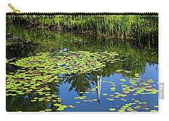 Carry-all Pouch featuring the photograph New England Summer Pond by Alan L Graham