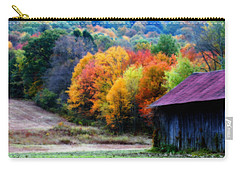 New England Tobacco Barn In Autumn Carry-all Pouch