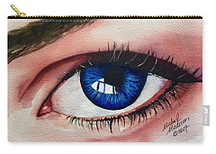 Carry-all Pouch featuring the painting New Eyes by Michal Madison