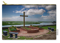 Carry-all Pouch featuring the photograph New Garden Cross At Belin Umc by Bill Barber
