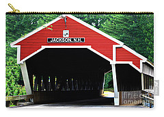 Carry-all Pouch featuring the photograph New Hampshire Covered Bridge by Barbara S Nickerson