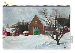 New Hampshire Farm In Winter Carry-all Pouch