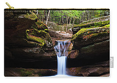 Carry-all Pouch featuring the photograph New Hampshire Sabbaday Falls And Fall Foliage by Ranjay Mitra