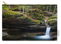 Carry-all Pouch featuring the photograph New Hampshire Sabbaday Falls Panorama by Ranjay Mitra