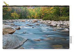 New Hampshire Swift River And Fall Foliage In Autumn Carry-all Pouch by Ranjay Mitra