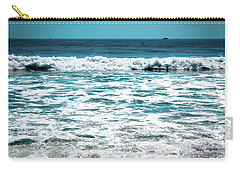 New Horizon - Blue Ocean Carry-all Pouch by Colleen Kammerer