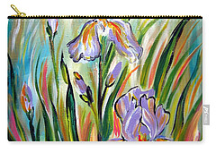 New Irises Carry-all Pouch