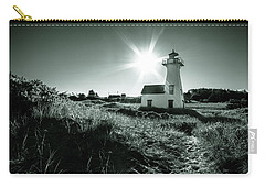 Carry-all Pouch featuring the photograph New London Light Behind Dunes by Chris Bordeleau