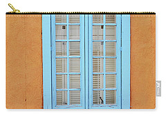 Carry-all Pouch featuring the photograph New Mexico Blue Window by Andrea Hazel Ihlefeld