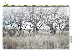 Carry-all Pouch featuring the photograph New Mexico Desert Tree Field by Andrea Hazel Ihlefeld