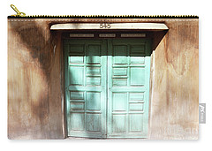 Carry-all Pouch featuring the photograph New Mexico Dreamy Rustic Door by Andrea Hazel Ihlefeld