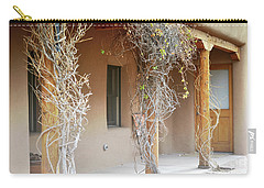 Carry-all Pouch featuring the photograph New Mexico Rustic Country Porch by Andrea Hazel Ihlefeld