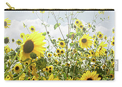 Carry-all Pouch featuring the photograph New Mexico Sunflowers by Andrea Hazel Ihlefeld