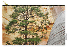 New Mexico Tent Rocks Slot Canyon Tree Landscape Carry-all Pouch by Andrea Hazel Ihlefeld