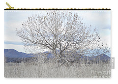 Carry-all Pouch featuring the photograph New Mexico Tree Mountain Landscape by Andrea Hazel Ihlefeld