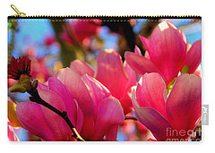 New Orleans In The Dead Of Winter Spring Japanese Magnolias Carry-all Pouch by Michael Hoard